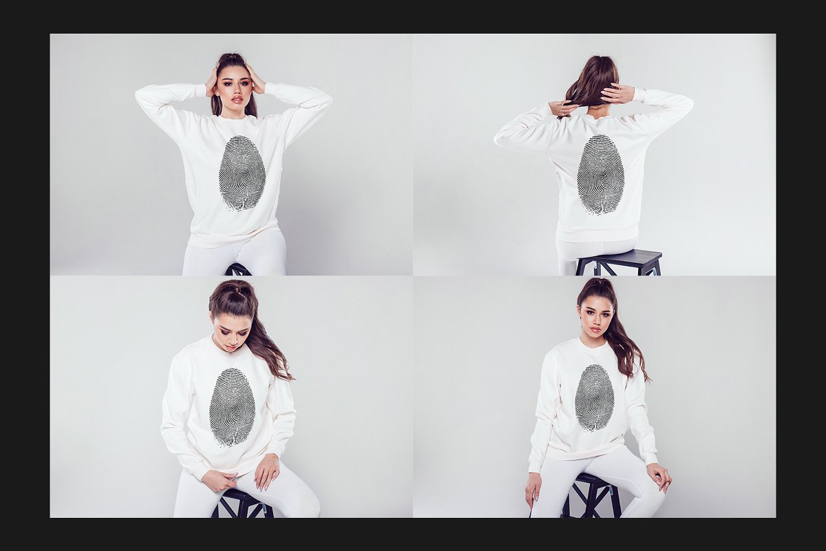 Sweatshirt Mock Up Set 466706