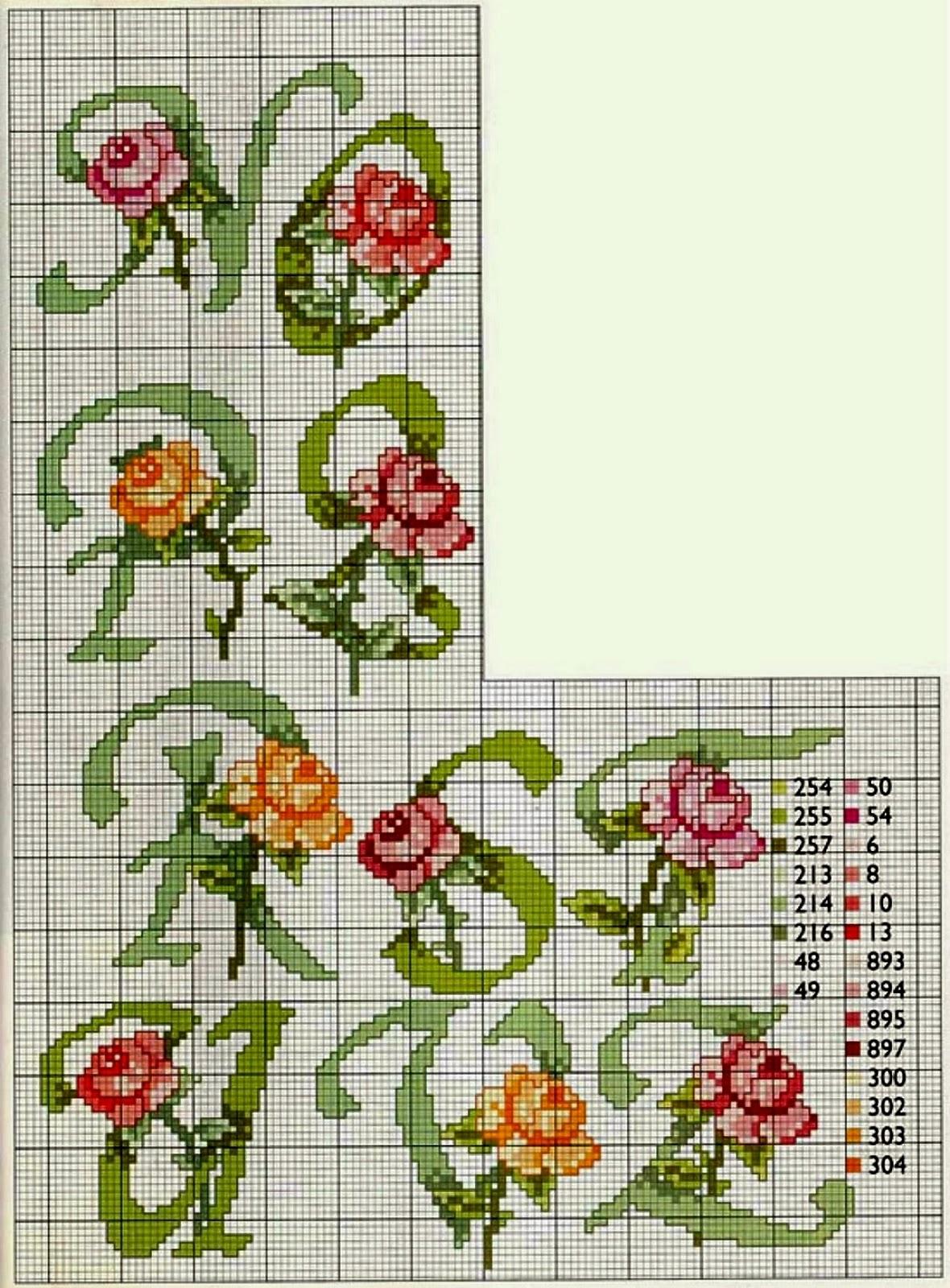 Professione donna schema per il punto croce alfabeto con for Punto croce schemi alfabeto