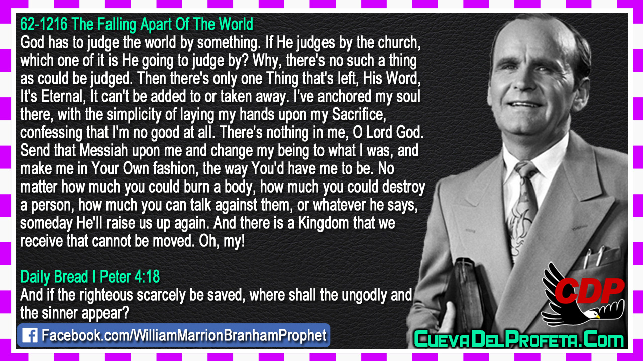 God has to judge the world - William Marrion Branham