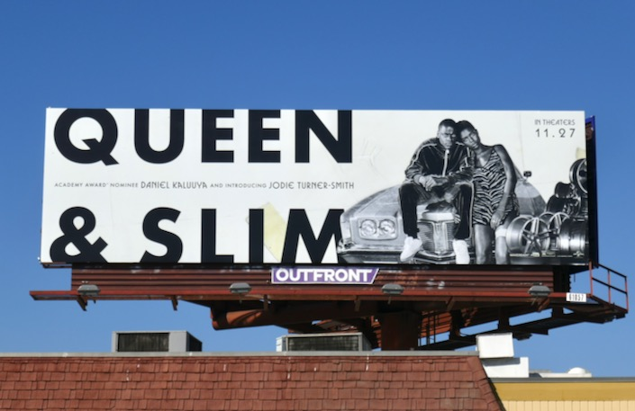 Queen and Slim movie billboard