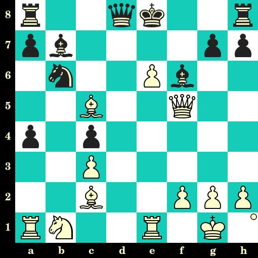 Les Blancs jouent et matent en 2 coups - Siegbert Tarrasch vs Max Kurschner, Nuremberg, 1893