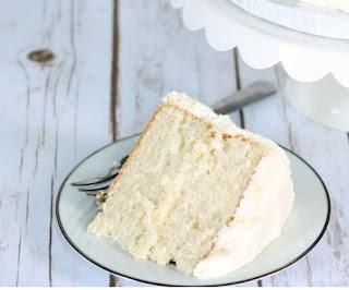 Easy White Sour Cream Cake #cake #cakes #recipes