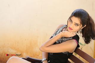 Actress Poojitha Pallavi Naidu Stills in Black Short Dress at Inkenti Nuvve Cheppu Movie Platinum Disc Function  0292.JPG