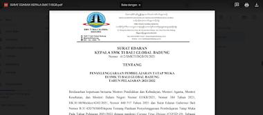 Surat Edaran dan Petunjuk Juknis PTM (Pembelajaran Tatap Muka)