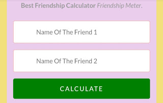 Calculator Of Friendship, Friendship Calculator