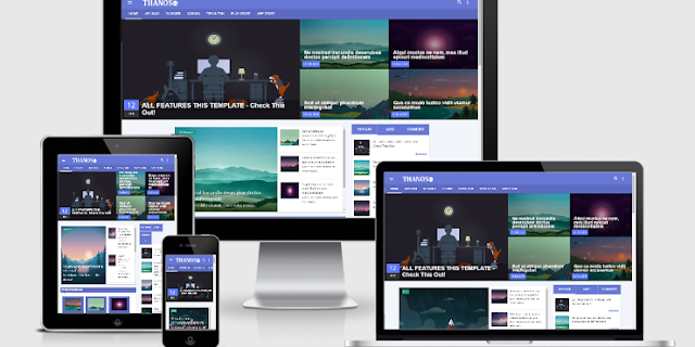 Thanos Vusion Responsive Template Blogger - SeoFriendly & Premium