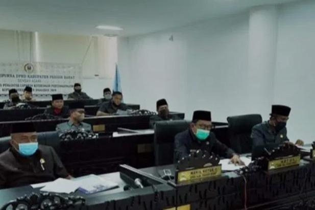 DPRD Pesibar Gelar Paripurna Penyampaian LKPJ Bupati Pesibar