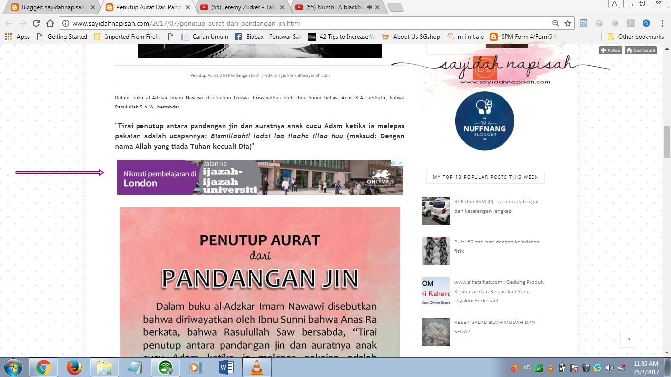 letak iklan adsense di tengah entri blog.