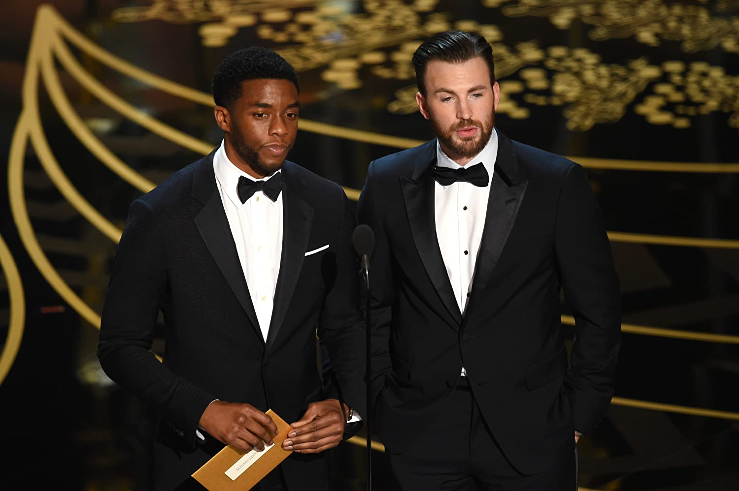 Chris Evans and Chadwick Boseman at an event for The Oscars (2016)