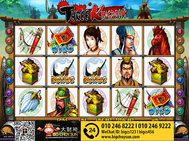 Clubsuncity Casino · Three Kingdoms | Online Slot Game