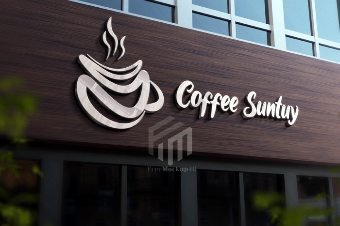 Logo Mockup With Silver Effect Psd Template