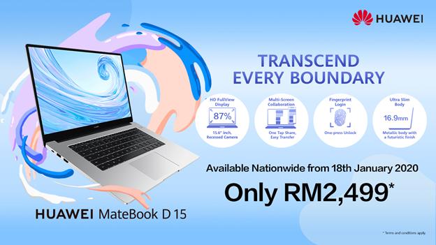 HUAWEI MateBook D 15 laptop