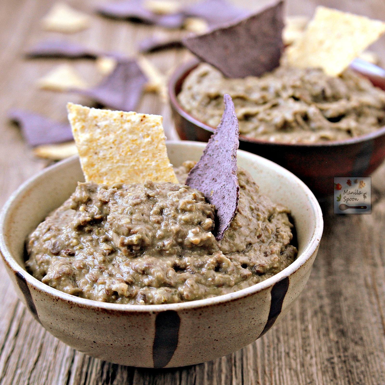 Easy 2 Ingredient Lentil and Cilantro Dip