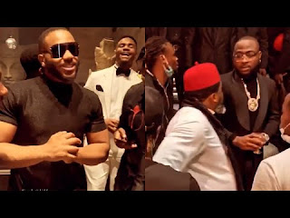 BBNaija: Kiddwaya hangs out with celebrities at Davido and Larry Gaaga's music video shoot (Video)