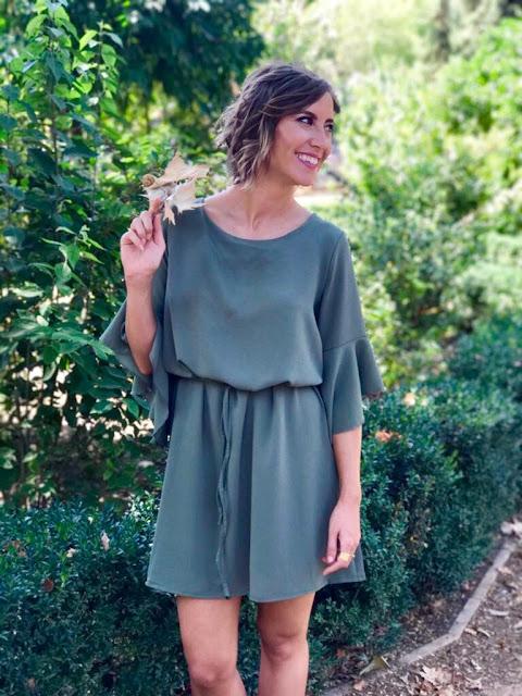Fitness And Chicness-Vestido Verde Oliva Otoño-5