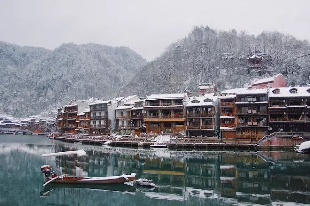 The beauty of Chinese towns in the winter