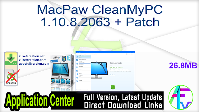 MacPaw CleanMyPC 1.10.8.2063 + Patch