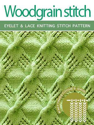 Eyelet & Lace Knitting Stitch Pattern
