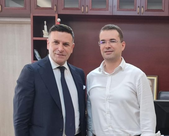 Masimo Romagnoli è ricevuto dal presidente del Consiglio regionale di Valona: Rafforziamo la cooperazione