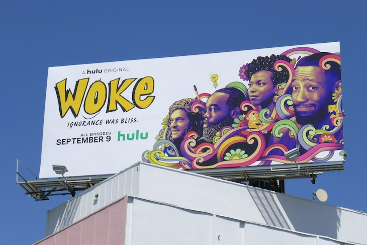 Woke series premiere billboard