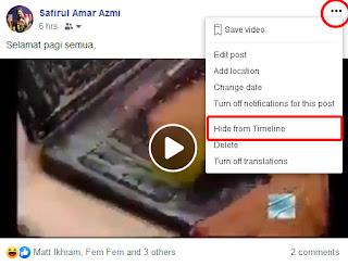 Cara Nak Hide Kan Posting di Facebook