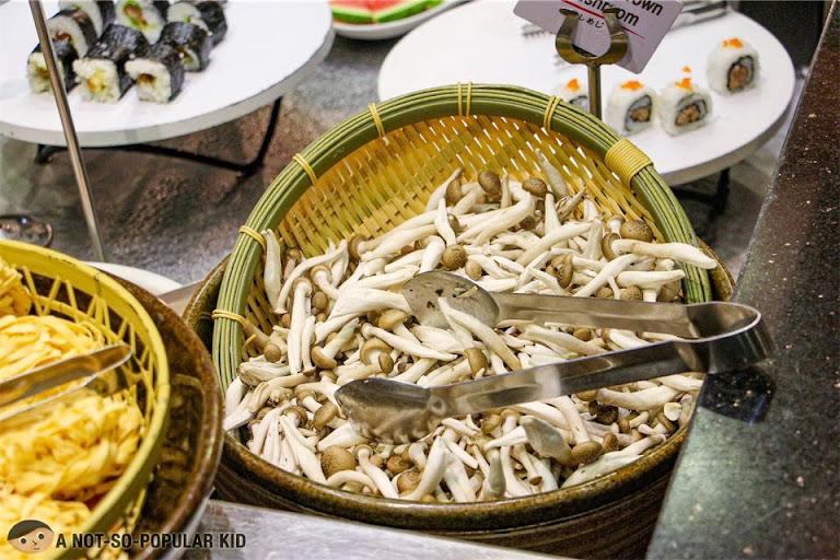 Mushrooms in Shaburi Unlimited Shabu-Shabu in BGC