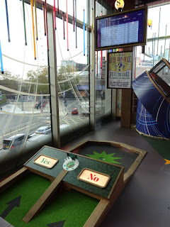 Puttshack super tech mini golf at White City in London