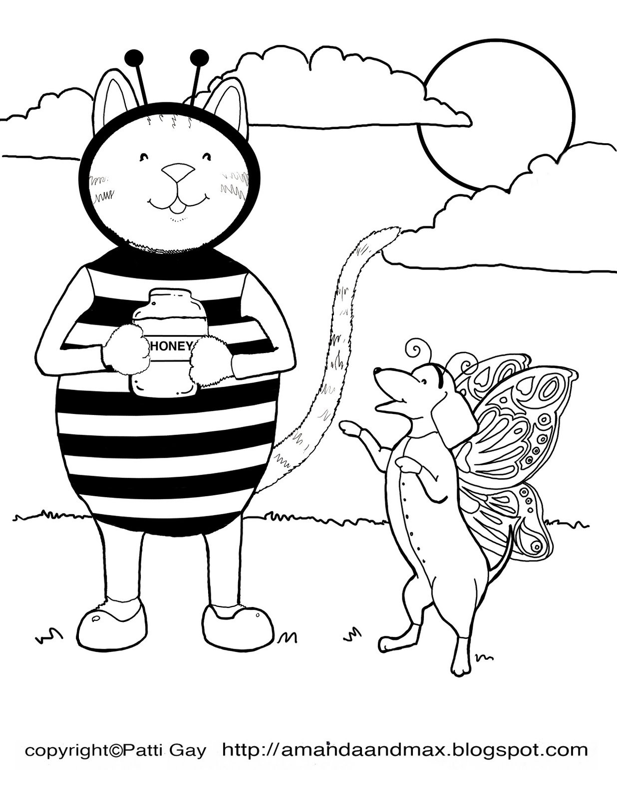 Dress Up Coloring Pages Amanda and Max Friends Dress Up Coloring Page