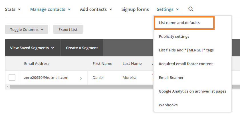 02-list-name-and-defaults-mailchimp