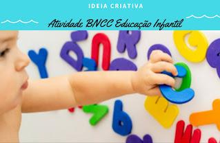 Atividade BNCC Educação Infantil para trabalhar o nome próprio