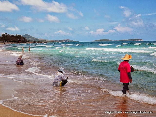 Pescadores locais em Koh Samui