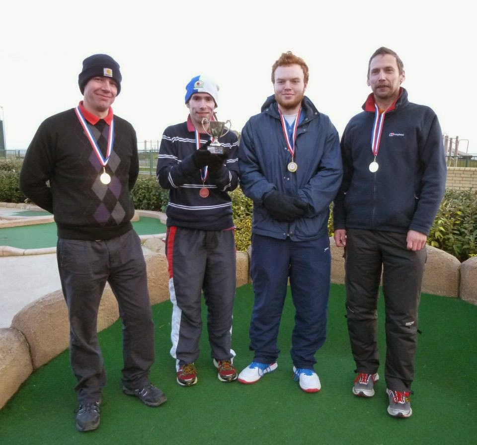 The 2015 BMGA British Club Championships winning team of Richard Gottfried, Michael Smith (c), Seth Thomas and John Moore