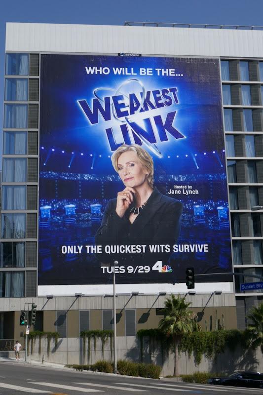 Giant Weakest Link series launch billboard