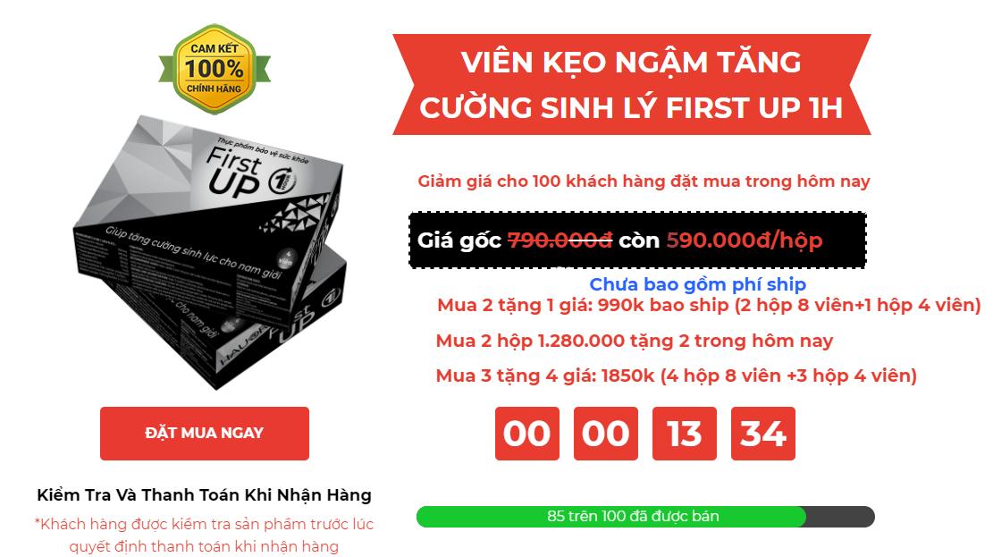 FIRST UP 1H - Kẹo Ngậm Sinh Lý