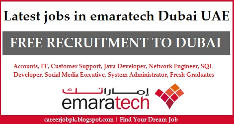 Latest Jobs In emaratech Dubai UAE