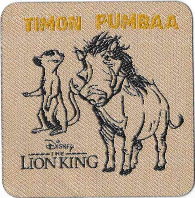 Disney's The Lion King Timon and Pumbaa Patch