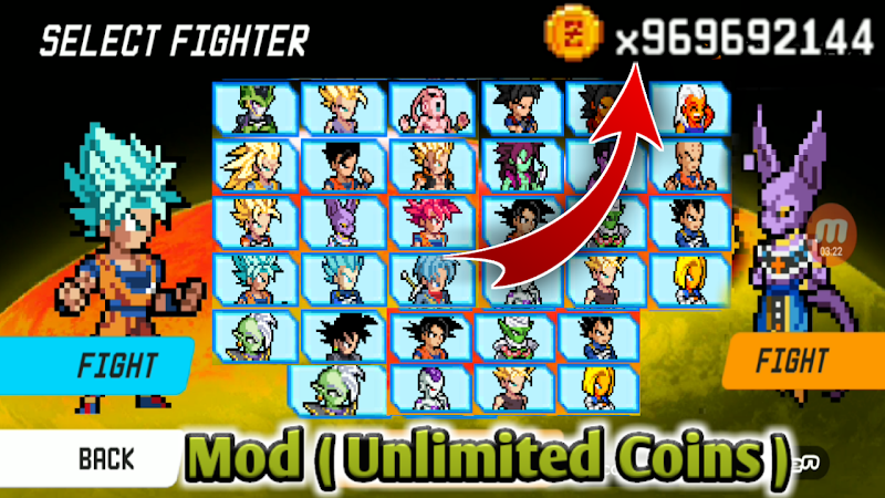 Fighting game for android - New MUGEN DBZ Download
