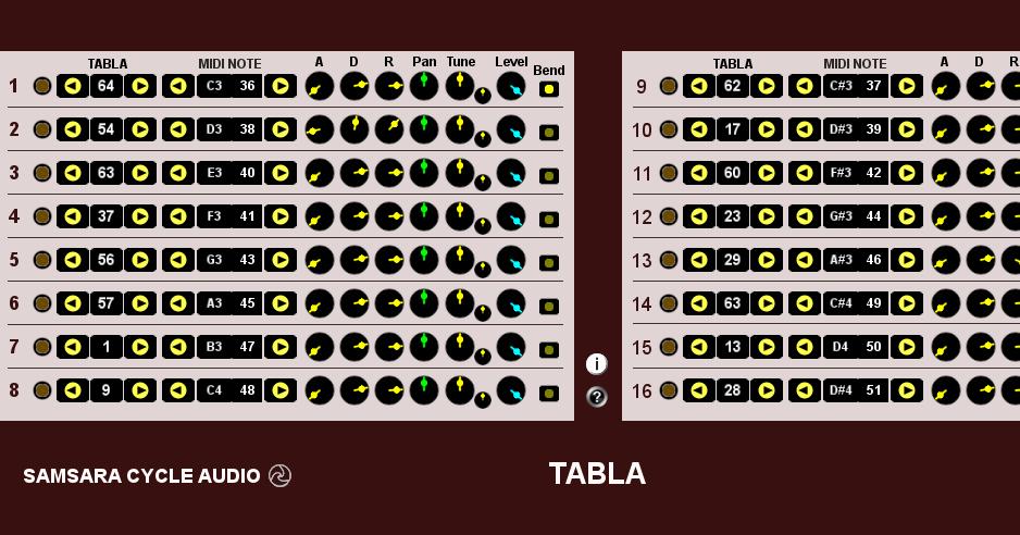 Samsara Cycle Audio: Tabla - Indian Drum Instrument VSTi FREE