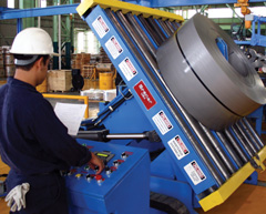 Intercambiadora automática de bobina