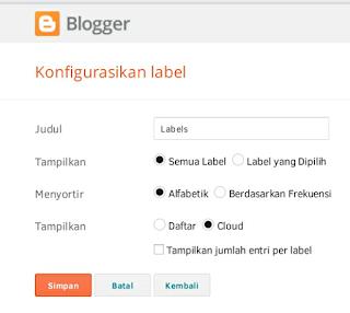 cara membuat label blog keren