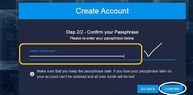 konfirmasi passphrase ddkoin