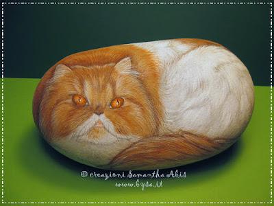 Gatti persiani dipinti