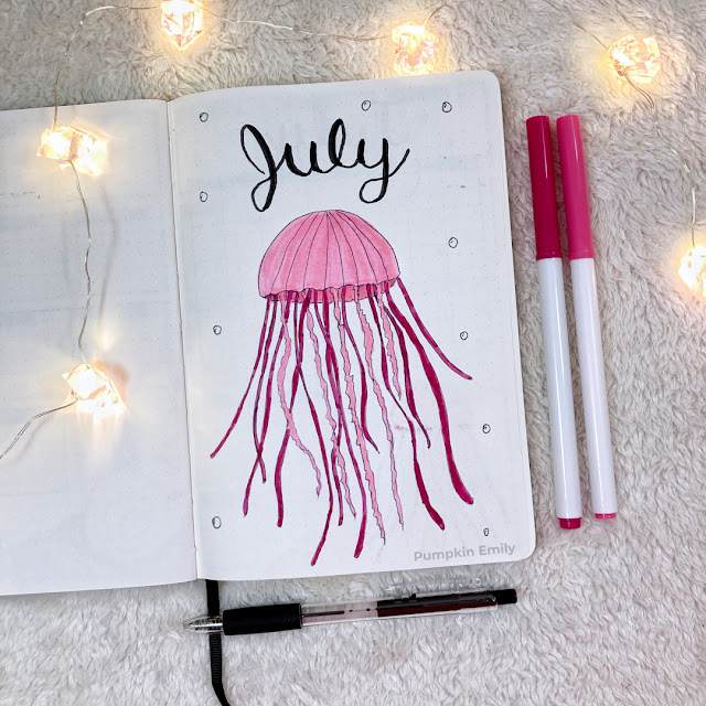 July jellyfish journal cover page