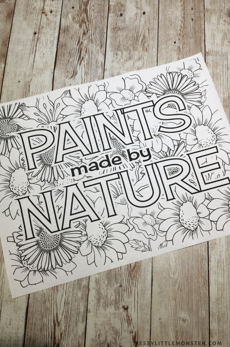 painting with nature printable
