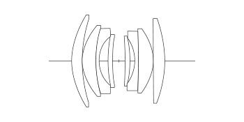 Оптическая схема объектива Voigtländer Nokton 35mm f/1.4 FE