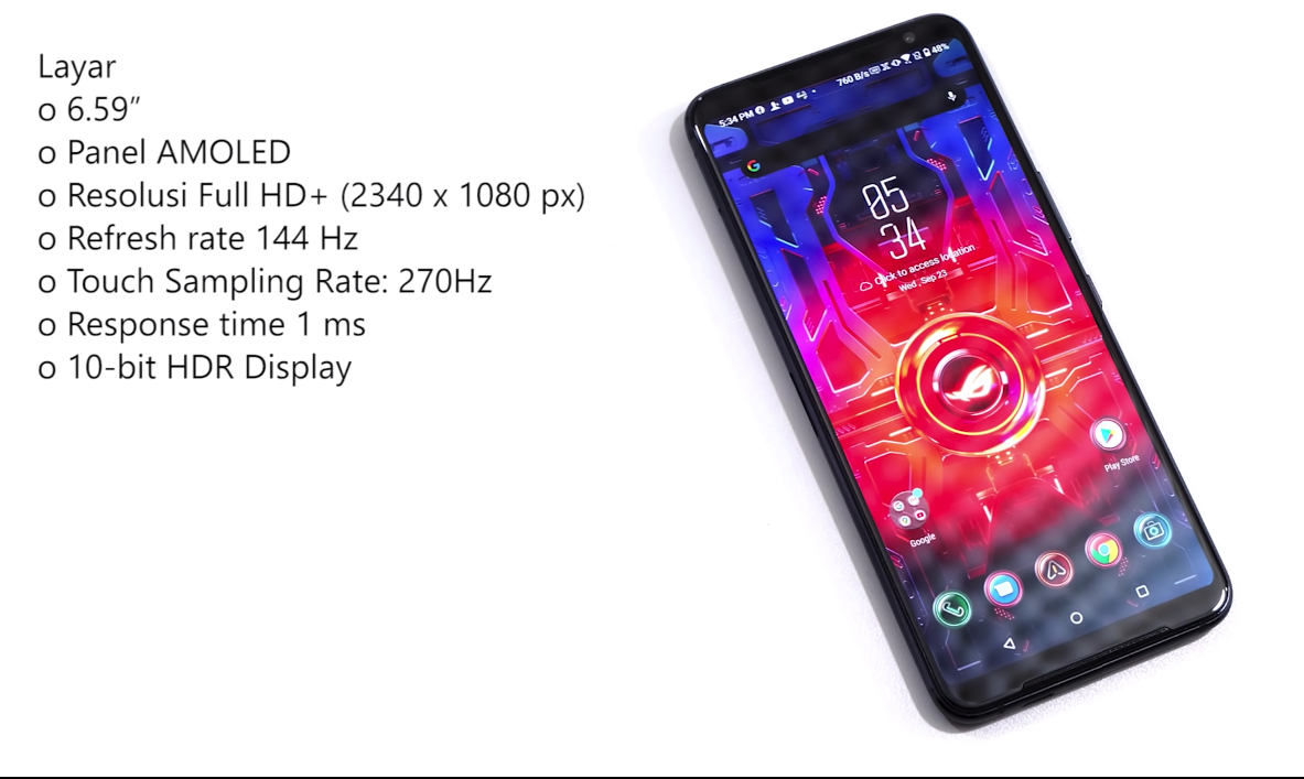 Spesifikasi Display dari Asus ROG Phone 3