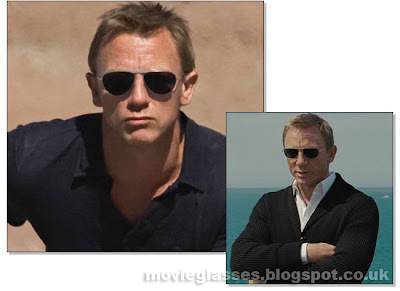 Daniel Craig as 007 James Bond in Tom Ford Sunglasses in Quantum of Solace