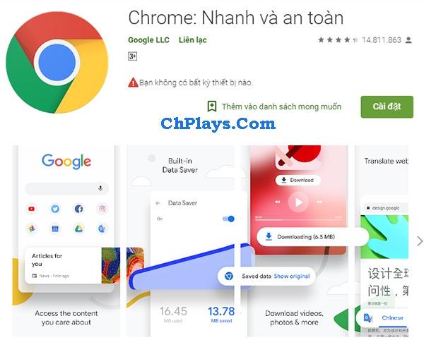 Tải Google Chrome (Offline) tiếng Việt mới nhất cho laptop, máy tính 10