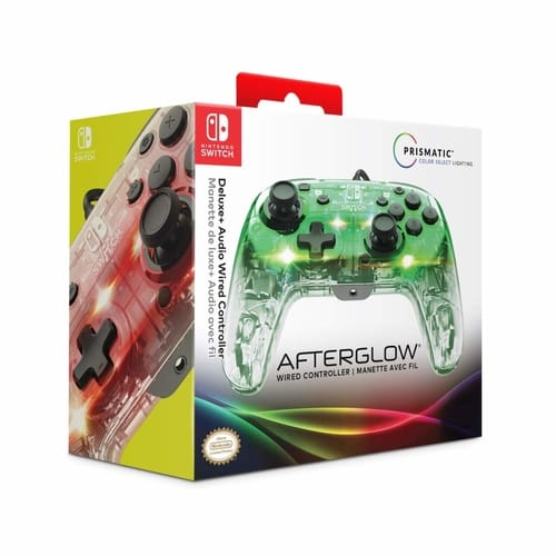PDP Nintendo Switch Afterglow Deluxe + Audio Wired Controller
