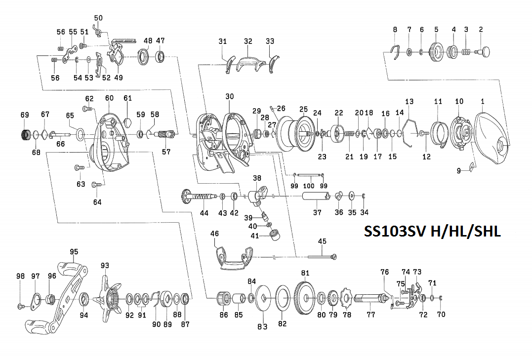 daiwa SS 103 SV and SS AIR schematics ( additional SS SV ... on